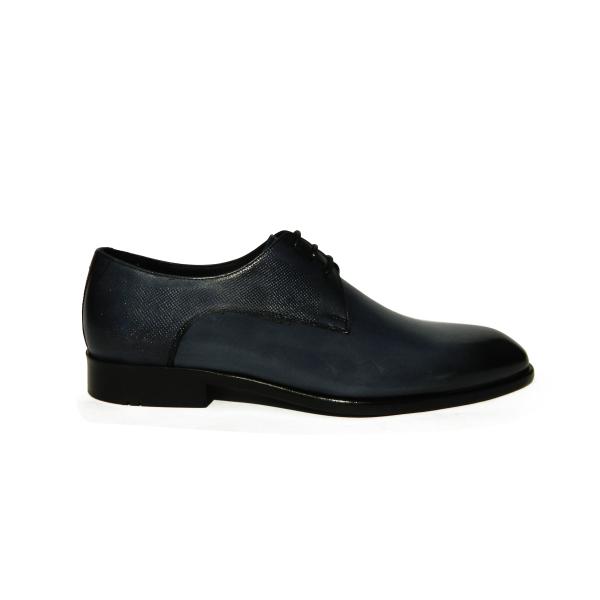 Pantofi eleganti pentru barbati din piele naturala, Bojan, Goretti, Albastru, 40 EU [0]
