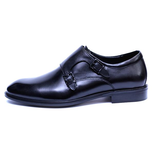 Pantofi barbati din piele naturala, Vito, SACCIO, Negru, 41 EU 3