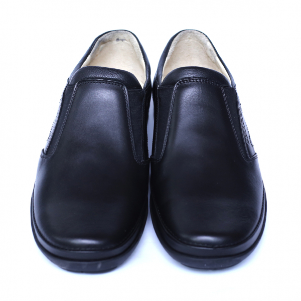 Pantofi barbati din piele naturala, Relax, Gitanos, Negru, 39 EU 1