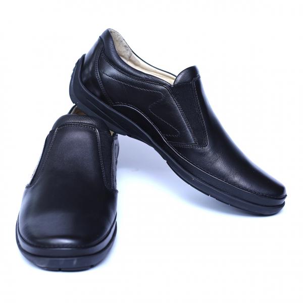 Pantofi barbati din piele naturala, Relax, Gitanos, Negru, 39 EU 2