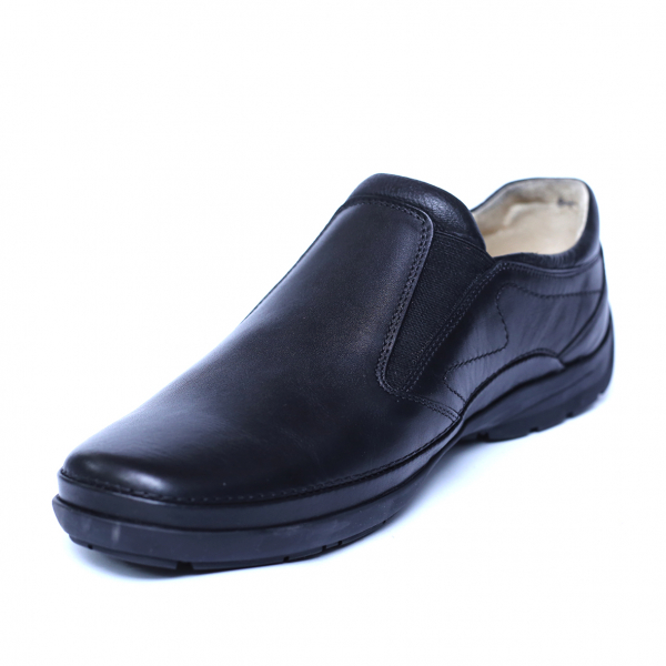 Pantofi barbati din piele naturala, Relax, Gitanos, Negru, 39 EU 0