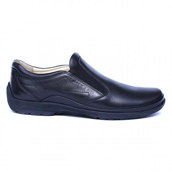Pantofi barbati din piele naturala, Relax, Gitanos, Negru, 39 EU 3