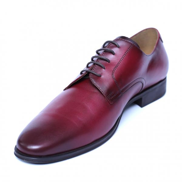 Pantofi eleganti barbati din piele naturala, Solari, DENIS, Bordeaux, 39 EU 0