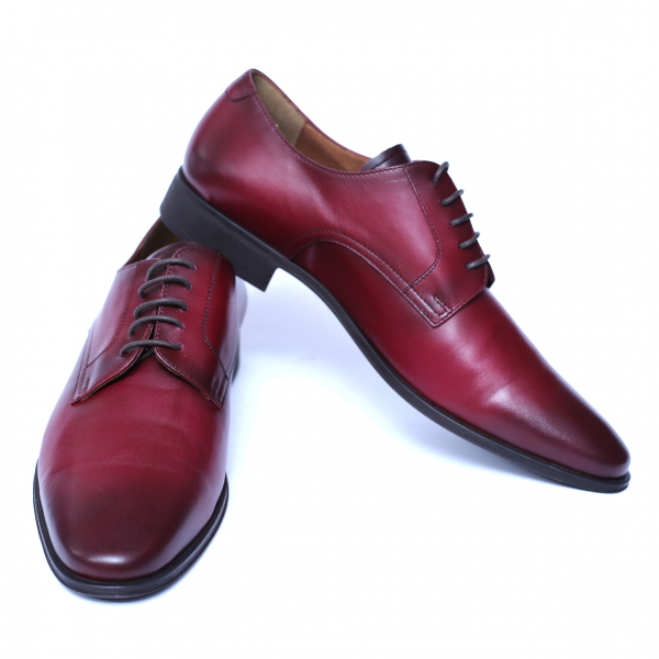 Pantofi eleganti barbati din piele naturala, Solari, DENIS, Bordeaux, 39 EU 2