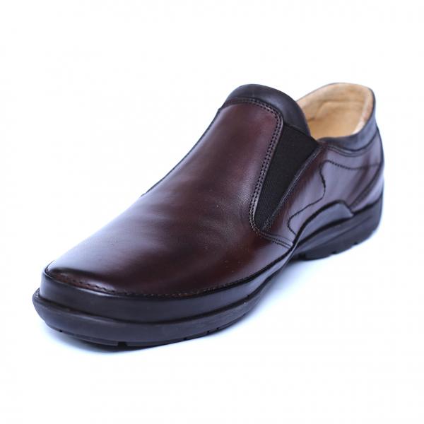 Pantofi barbati din piele naturala, Relax, Gitanos, Maro, 39 EU 0