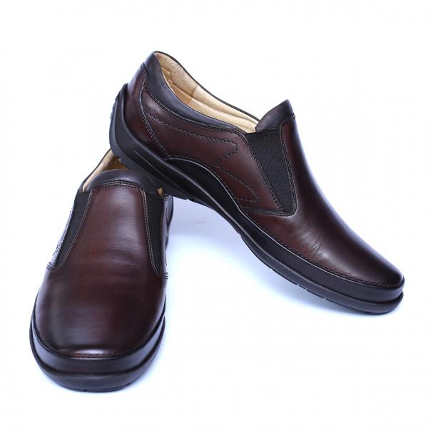 Pantofi barbati din piele naturala, Relax, Gitanos, Maro, 39 EU 2