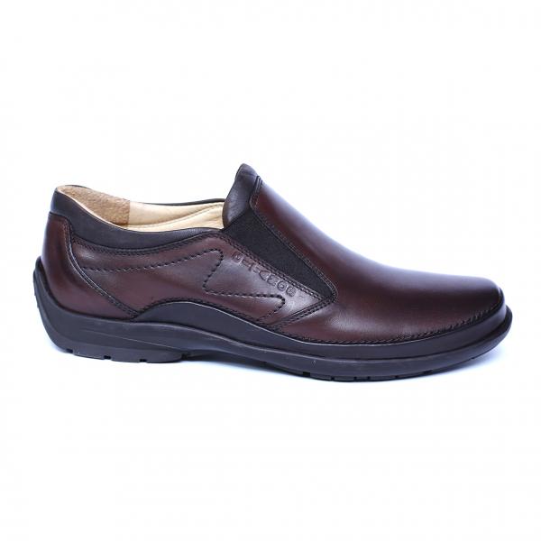 Pantofi barbati din piele naturala, Relax, Gitanos, Maro, 39 EU 3