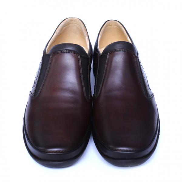 Pantofi barbati din piele naturala, Relax, Gitanos, Maro, 39 EU 1