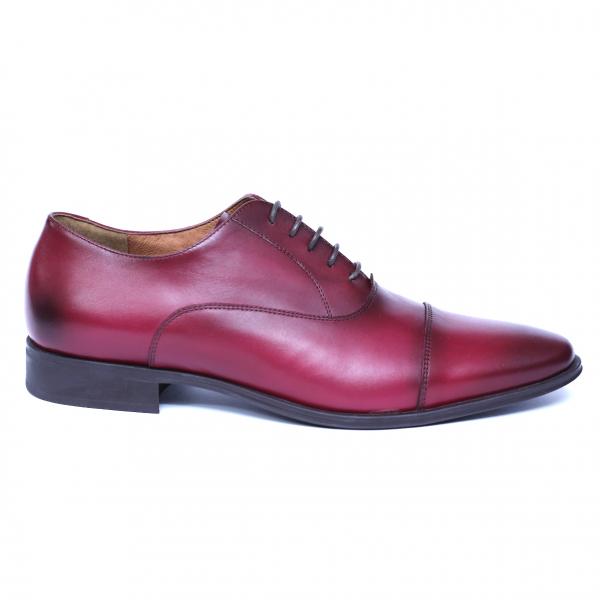 Pantofi barbati din piele naturala, Solari 2, DENIS, Bordeaux, 39 EU 3