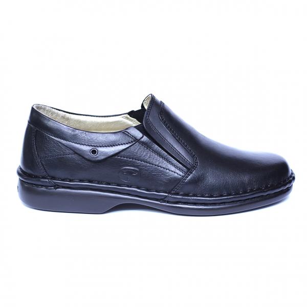 Pantofi barbati din piele naturala, Zen, Gitanos, Negru, 39 EU [3]