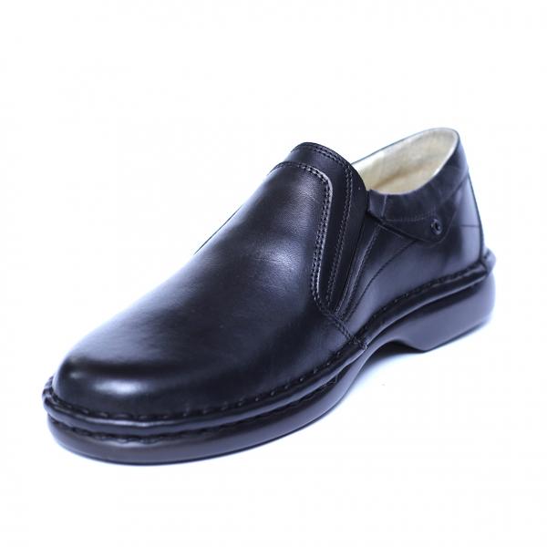 Pantofi barbati din piele naturala, Zen, Gitanos, Negru, 39 EU [0]