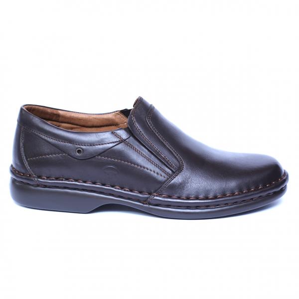 Pantofi barbati din piele naturala, Zen, Gitanos, Maro, 39 EU [3]
