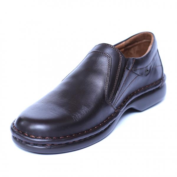 Pantofi barbati din piele naturala, Zen, Gitanos, Maro, 39 EU [0]