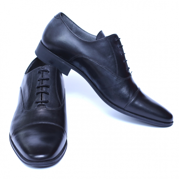 Pantofi barbati din piele naturala, Solari 2, DENIS, Negru, 39 EU [2]