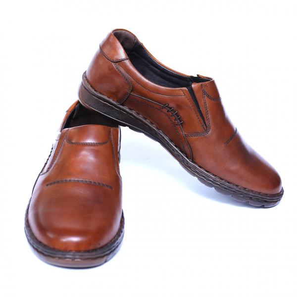 Pantofi barbati din piele naturala, Zento, Cobra, Maro, 39 EU 2