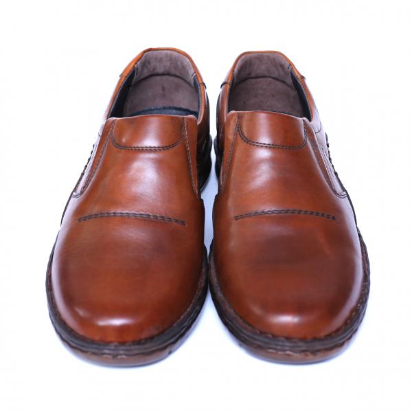Pantofi barbati din piele naturala, Zento, Cobra, Maro, 39 EU 1