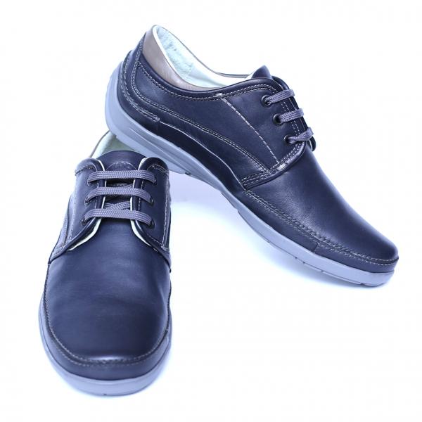 Pantofi barbati din piele naturala, Daily, Gitanos, Albastru, 39 EU 2
