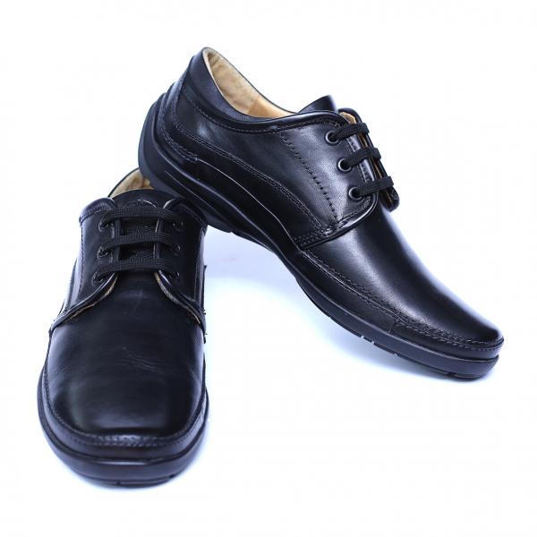 Pantofi barbati din piele naturala, Daily, Gitanos, Negru, 39 EU 2