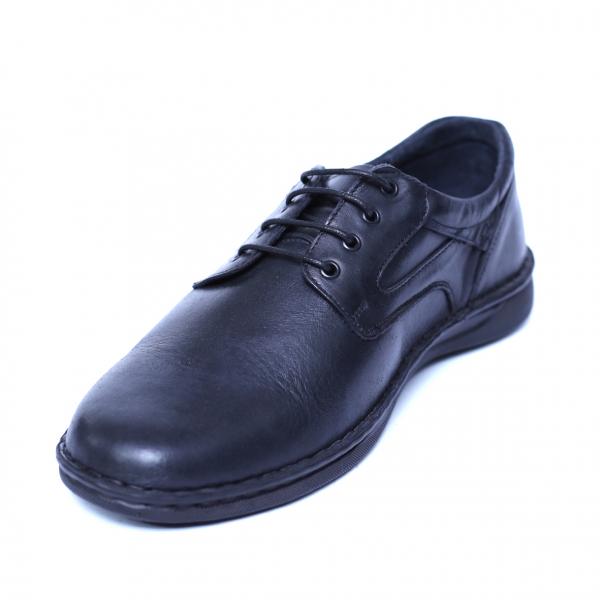 Pantofi barbati din piele naturala, Bruce, Cobra, Negru, 39 EU [0]