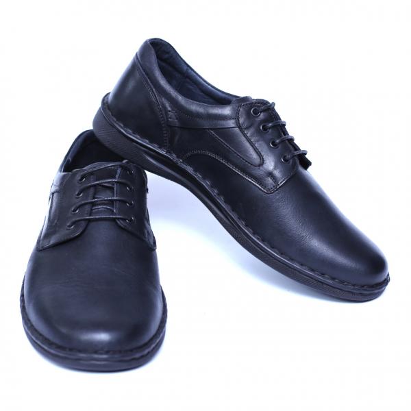 Pantofi barbati din piele naturala, Bruce, Cobra, Negru, 39 EU [2]