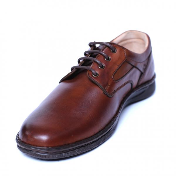 Pantofi barbati din piele naturala, Bruce, Cobra, Maro, 39 EU 0