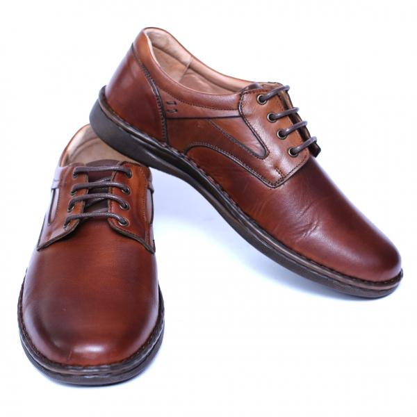 Pantofi barbati din piele naturala, Bruce, Cobra, Maro, 39 EU 2