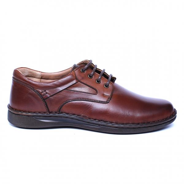 Pantofi barbati din piele naturala, Bruce, Cobra, Maro, 39 EU 3