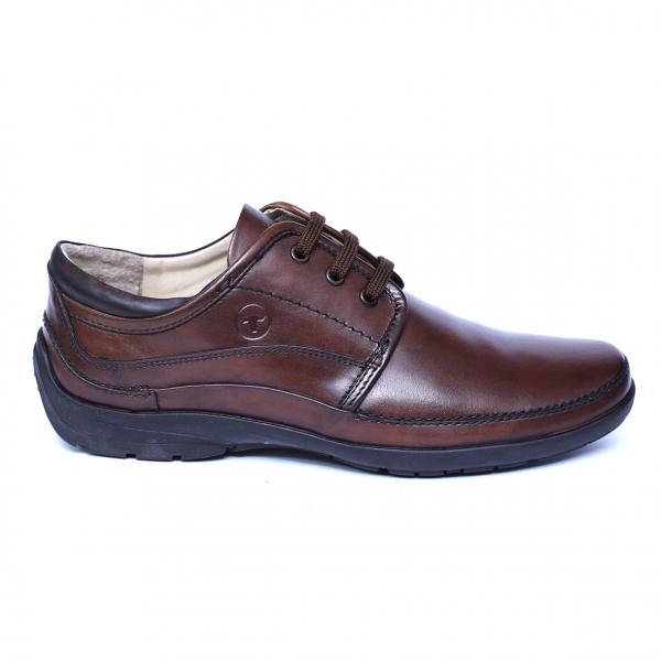 Pantofi barbati din piele naturala, Daily, Gitanos, Maro, 39 EU [3]