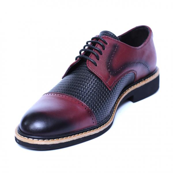 Pantofi barbati din piele naturala, Elvis, Relin, Bordeaux, 39 EU [0]