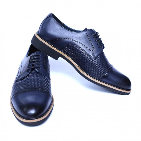 Pantofi barbati din piele naturala, Elvis, Relin, Albastru, 39 EU [2]