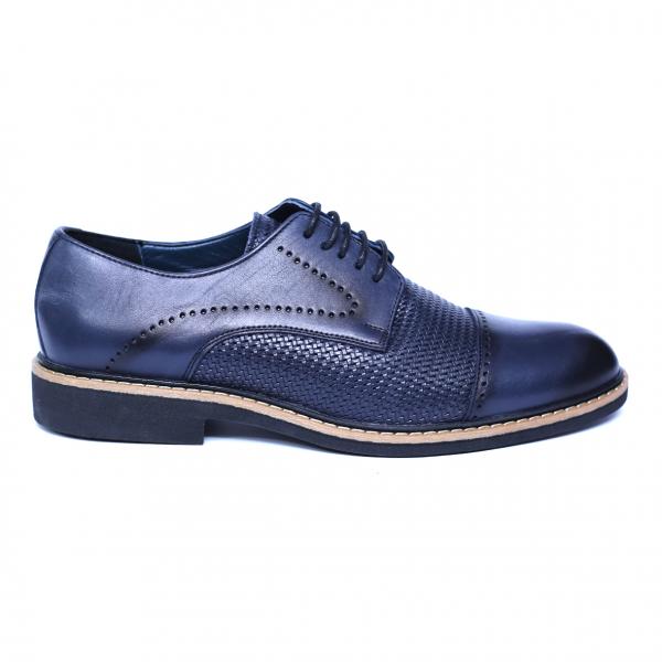 Pantofi barbati din piele naturala, Elvis, Relin, Albastru, 39 EU [3]