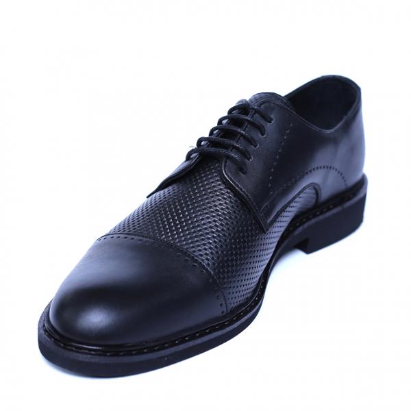 Pantofi barbati din piele naturala, Elvis, Relin, Negru, 39 EU [0]