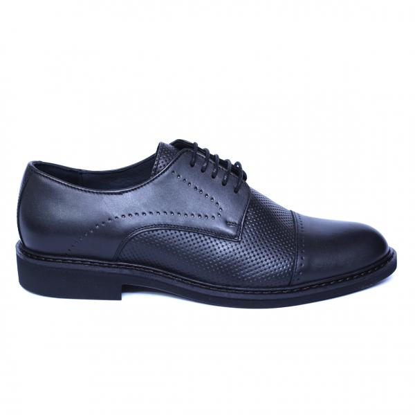 Pantofi barbati din piele naturala, Elvis, Relin, Negru, 39 EU [3]