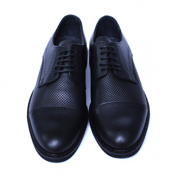 Pantofi barbati din piele naturala, Elvis, Relin, Negru, 39 EU [1]