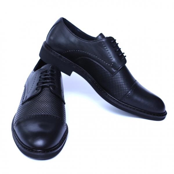 Pantofi barbati din piele naturala, Elvis, Relin, Negru, 39 EU [2]