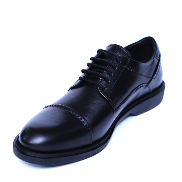 Pantofi barbati din piele naturala, Marco, Gitanos, Negru, 39 EU 0