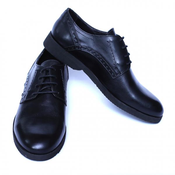 Pantofi barbati din piele naturala, Wed, Gitanos, Negru, 39 EU 2