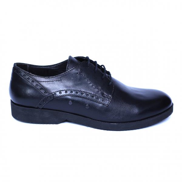 Pantofi barbati din piele naturala, Wed, Gitanos, Negru, 39 EU 3