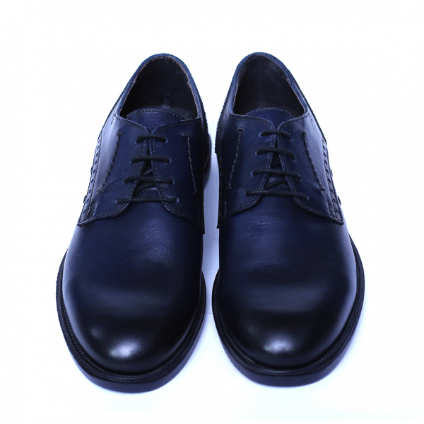 Pantofi barbati din piele naturala, Wed, Gitanos, Albastru, 39 EU [1]
