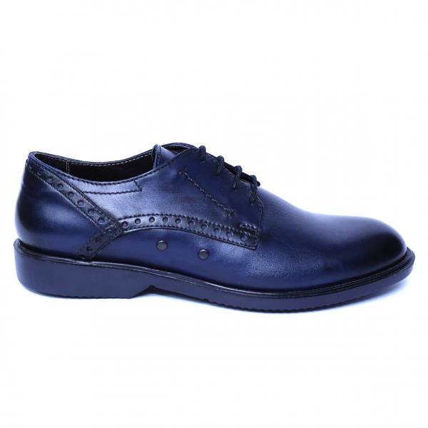 Pantofi barbati din piele naturala, Wed, Gitanos, Albastru, 39 EU [3]