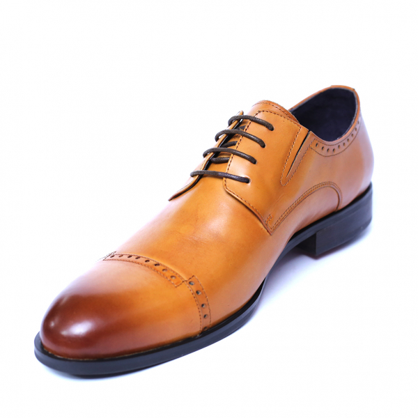 Pantofi barbati din piele naturala, Ka, SACCIO, Maro, 39 EU [0]