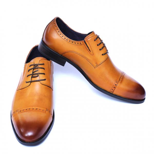 Pantofi barbati din piele naturala, Ka, SACCIO, Maro, 39 EU [2]