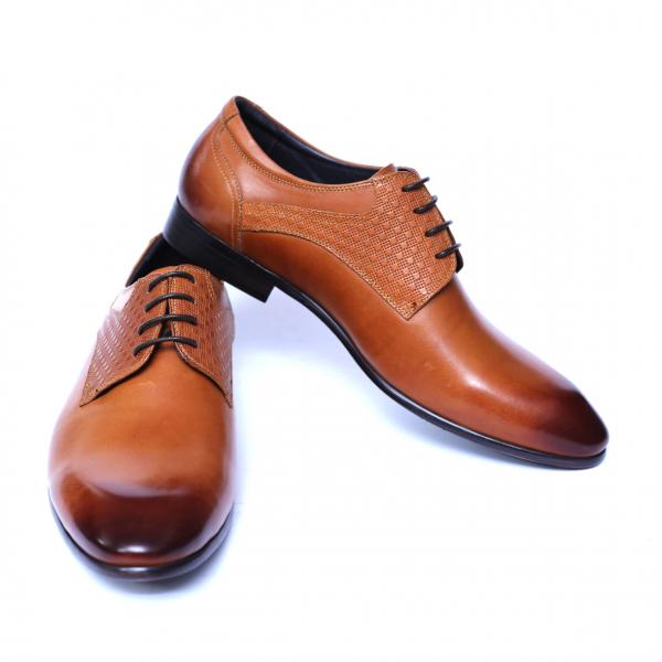 Pantofi barbati din piele naturala, Nero, SACCIO, Maro, 39 EU [2]