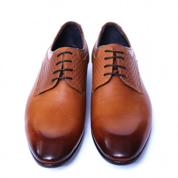 Pantofi barbati din piele naturala, Nero, SACCIO, Maro, 39 EU [1]