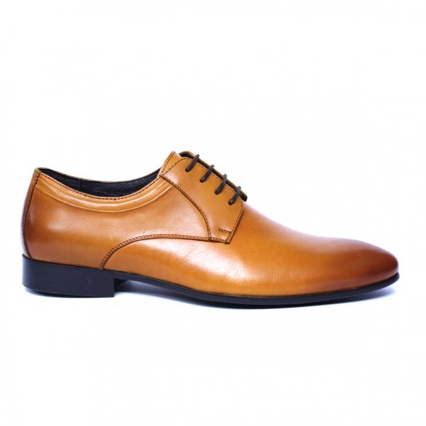 Pantofi barbati din piele naturala, Scottie, SACCIO, Maro, 39 EU 3