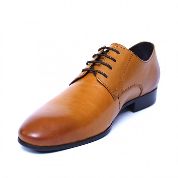 Pantofi barbati din piele naturala, Scottie, SACCIO, Maro, 39 EU 0