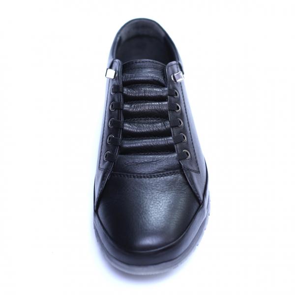 Pantofi barbati din piele naturala, Snk, Goretti, Negru, 39 EU [3]