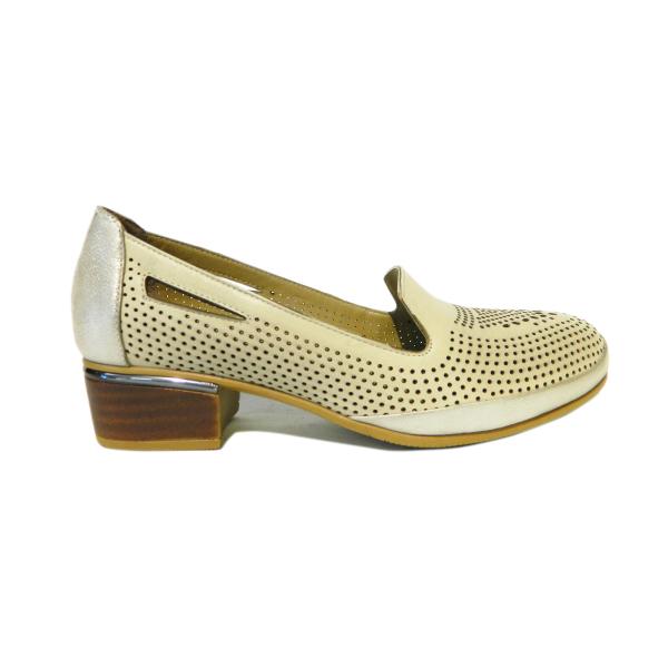 Pantofi dama din piele naturala, Ugudal, Gitanos, Bej, 36 EU [2]