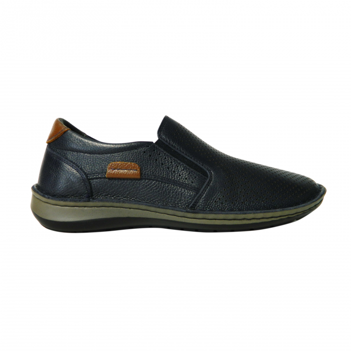 Pantofi casual pentru barbati din piele naturala, Florida, Dr. Jells, Albastru, 41 EU 0