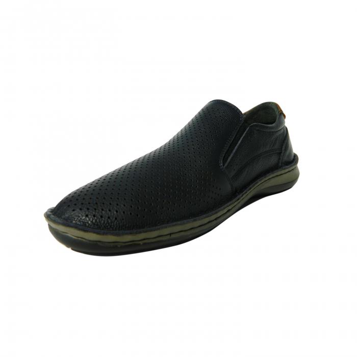 Pantofi casual pentru barbati din piele naturala, Florida, Dr. Jells, Albastru, 41 EU 1